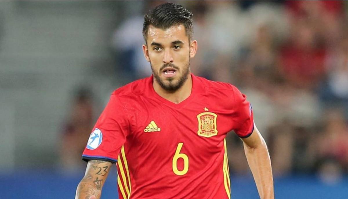 Daniel Ceballos, en una imatge d'arxiu amb la selecció espanyola