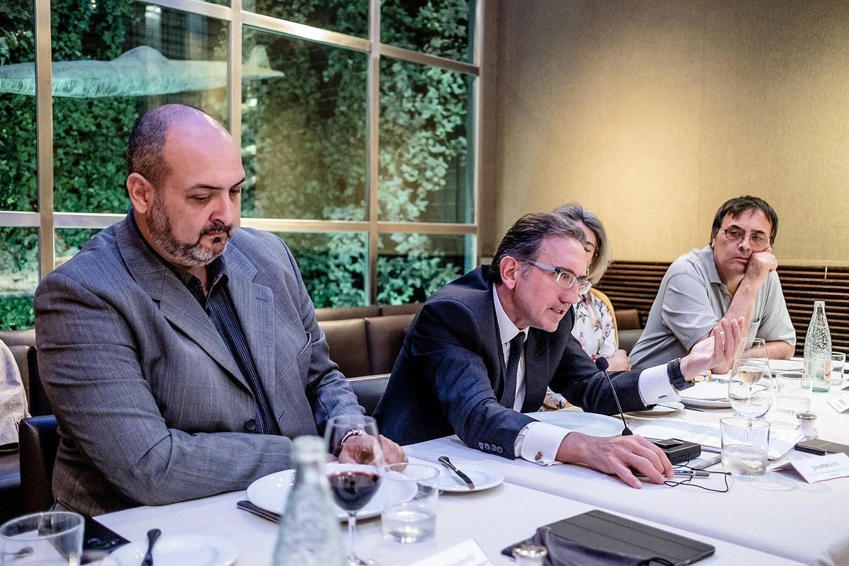 Jaume Giró a la reunió del Consell Editorial de NacióDigital