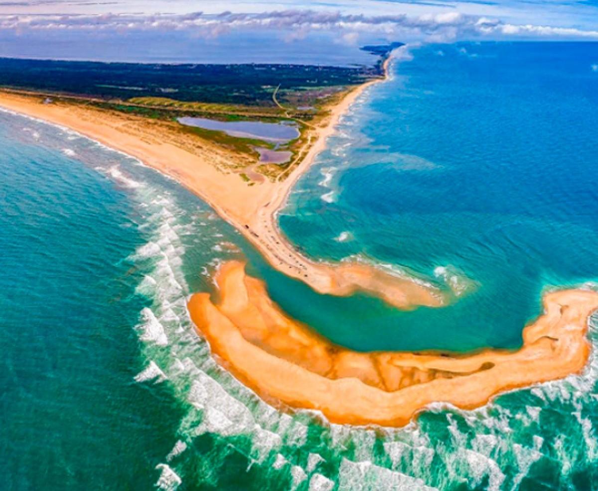 La Shelly Island, vista des de l'aire