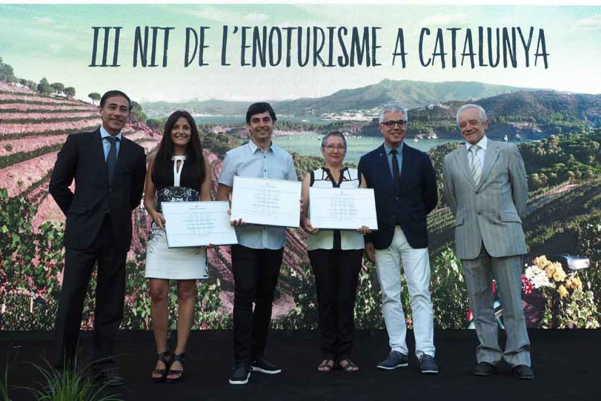 Els guanyadors amb Xavier Espasa, Octavi Bono i el director general de l'INCAVI, Salvador Puig