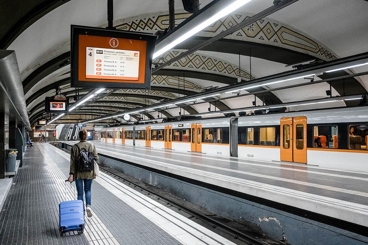 L'estació de FGC de Plaça Catalunya