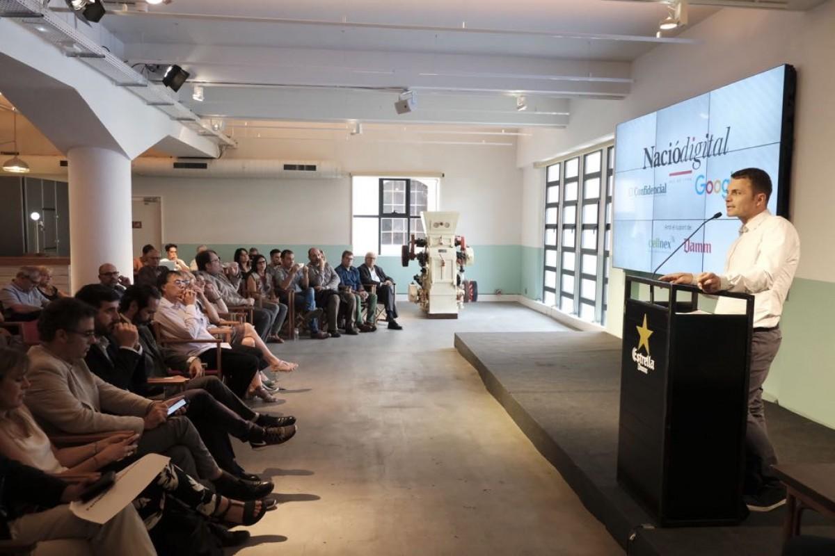 Acte  «Innovació als mitjans digitals» a l'Antiga Fàbrica Estrella Damm