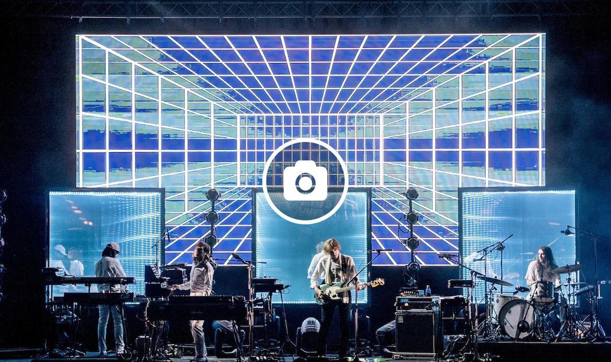 Escenografia futurista en el concert dels francesos Air