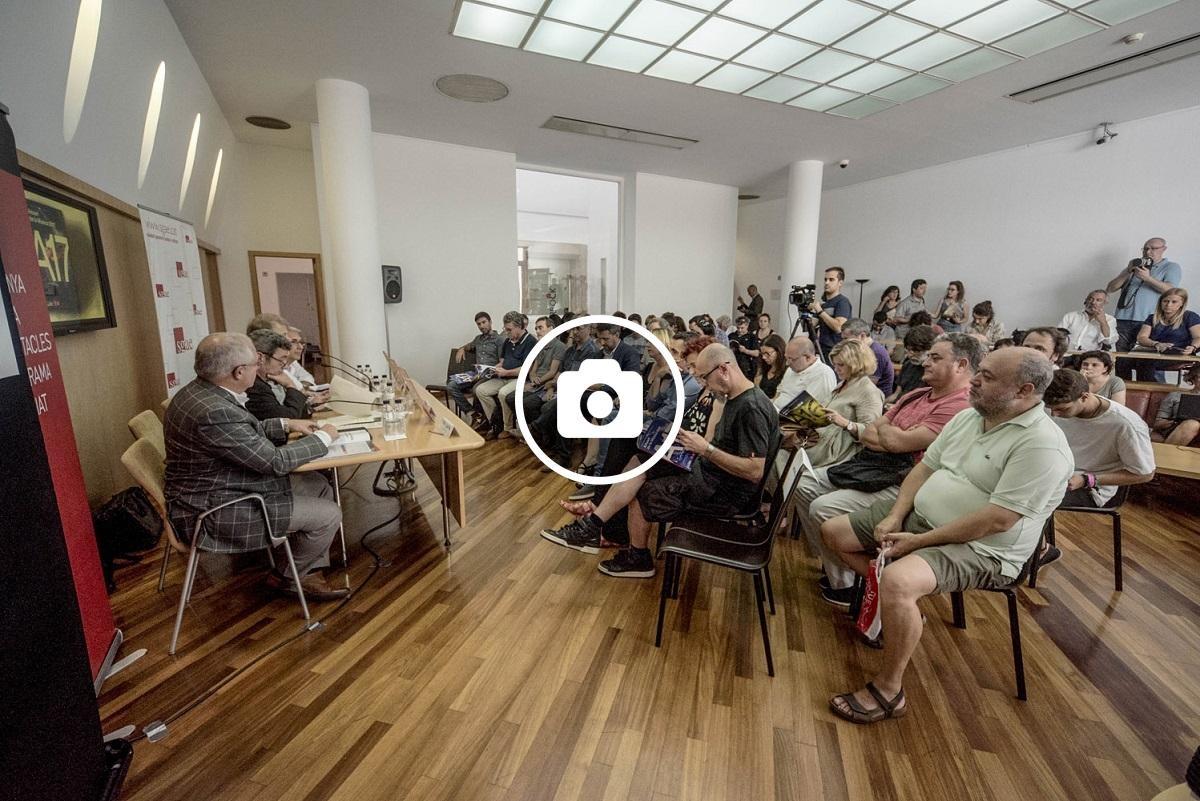 Roda de premsa a la seu de la SGAE de Barcelona