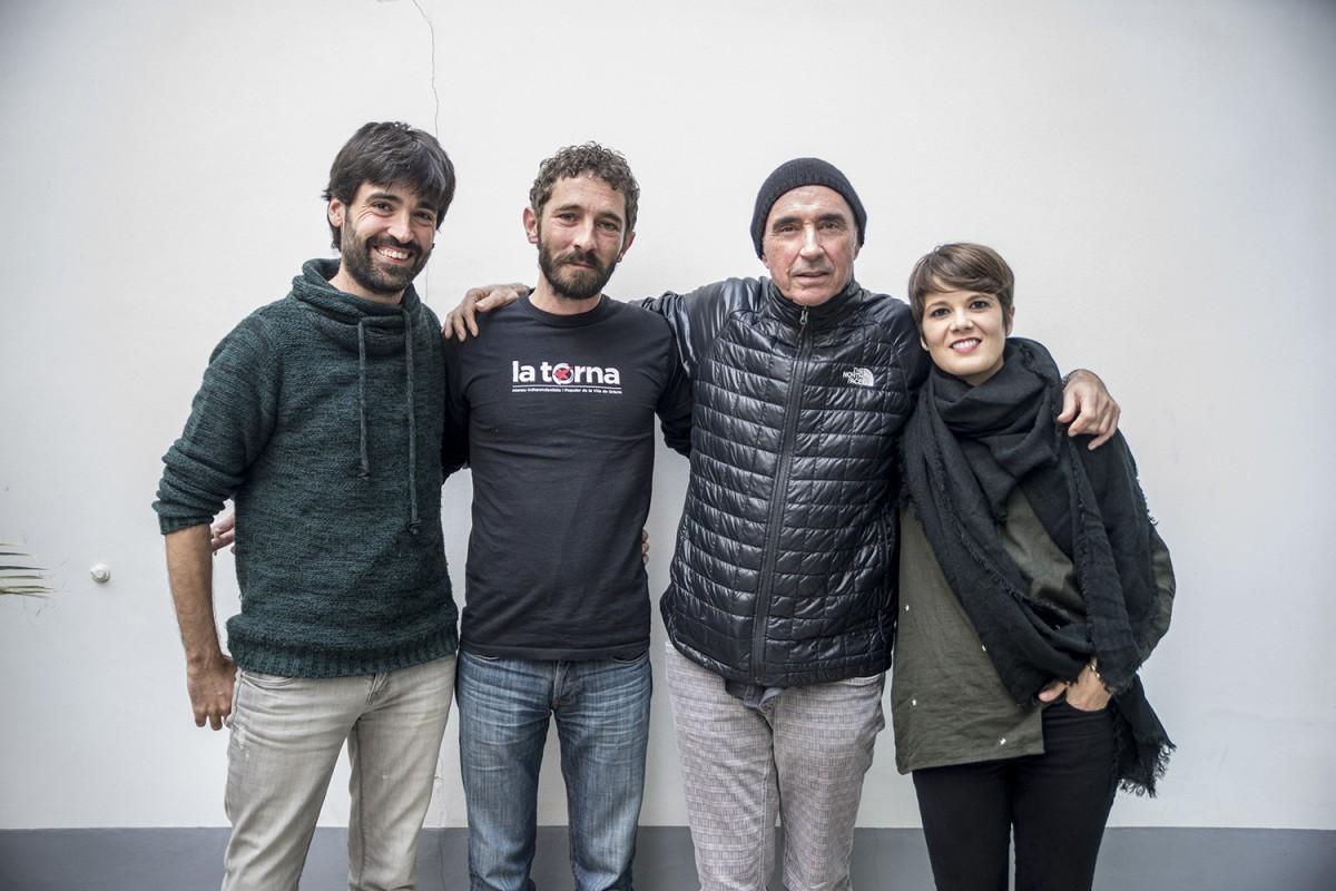 Lluís Llach amb Mireia Vives, Borja Penalba i Roc Casagran