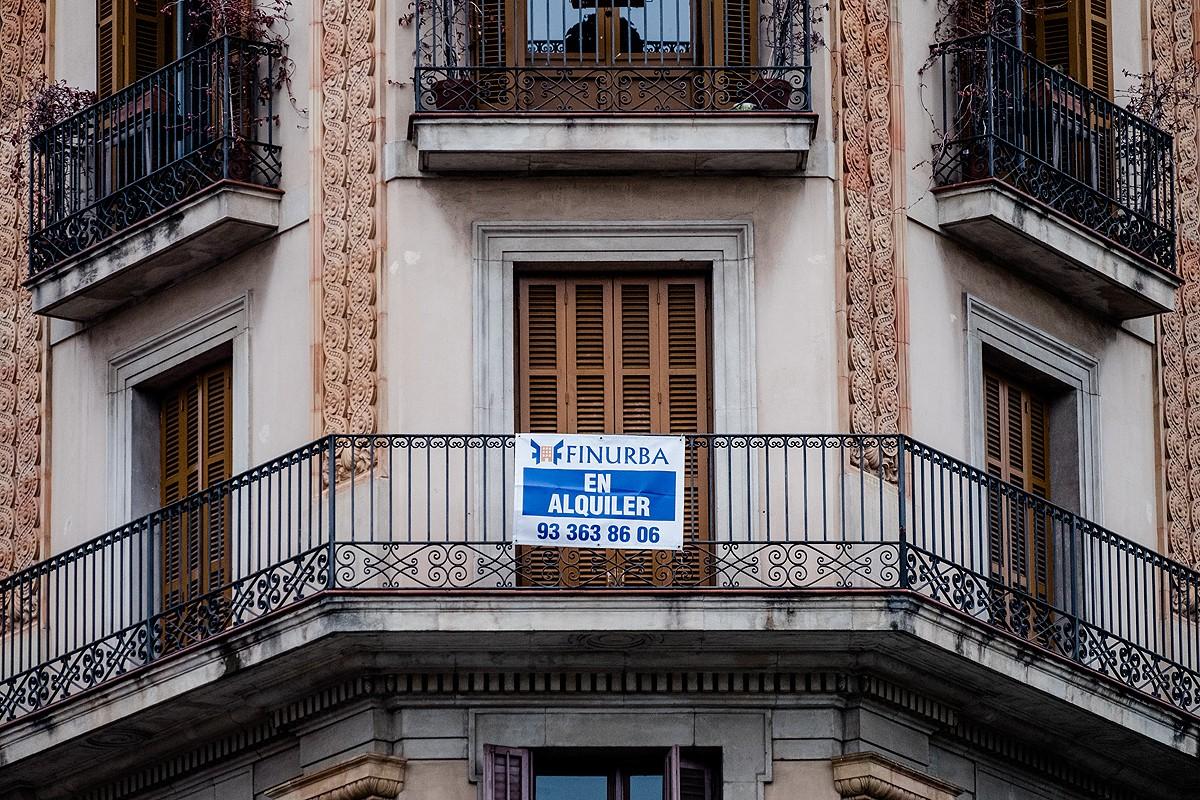 Un pis en lloguer al centre de Barcelona.