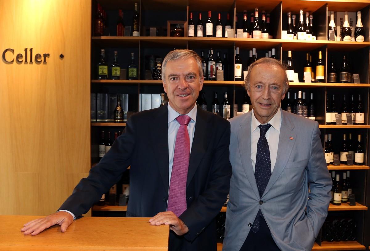 José Donoso, director general de l'UNEF i Miguel Torres, president de Cellers Torres