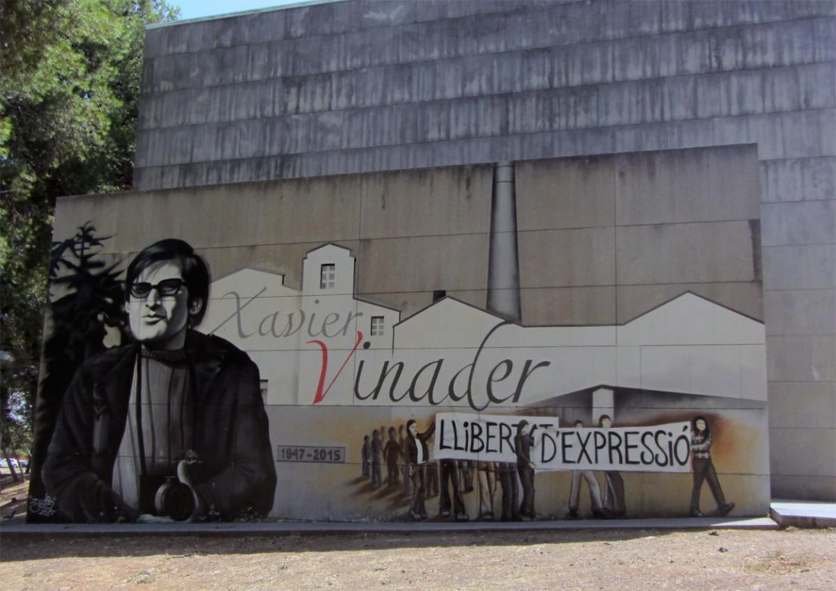 El mural de Xavier Vinader a la seva ciutat natal, Sabadell
