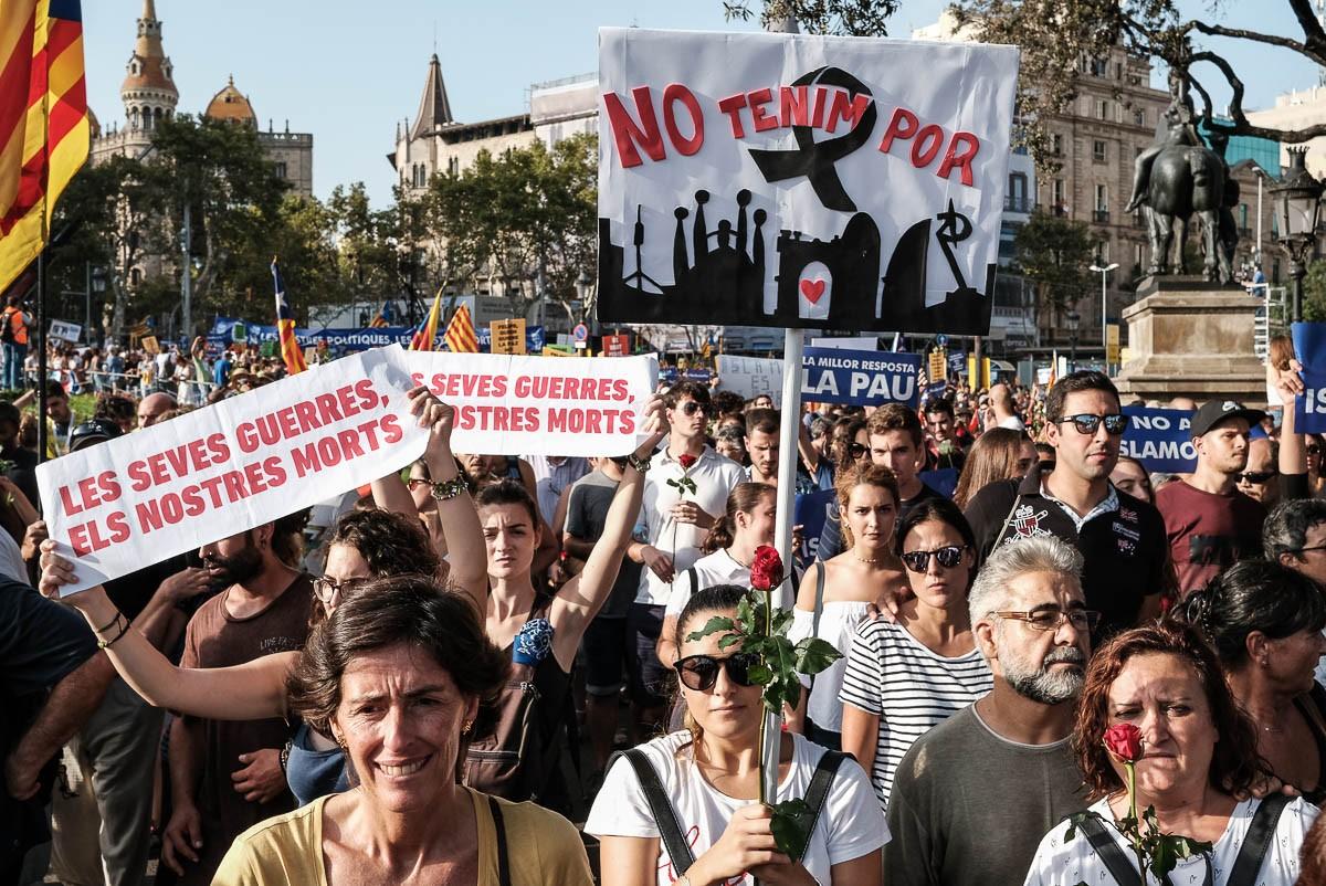 Manifestació «No tinc por» a Barcelona