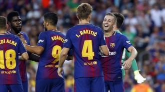 Un Barça molt superior s'emporta el Gamper més emotiu