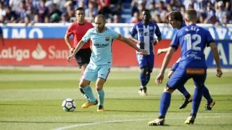 El Barça s'imposa a l'Alabès amb un doblet de Messi