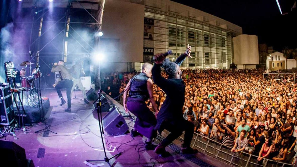 Concert a la Plaça dels Àngels durant el BAM de l'any passat