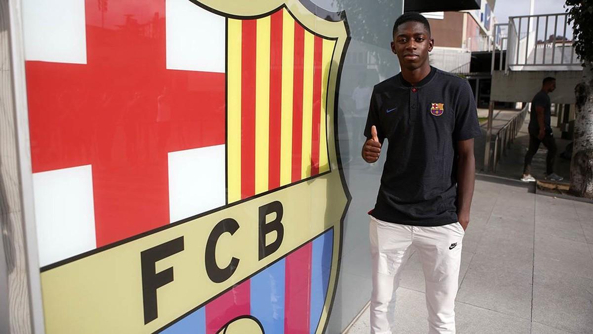 Ousmane Dembélé, recent presentat amb el Barça