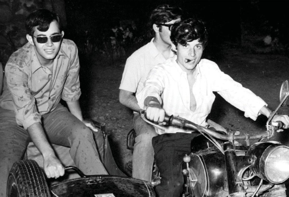 Salvador Puig Antich en un sidecar a Palautordera, l'any 1971
