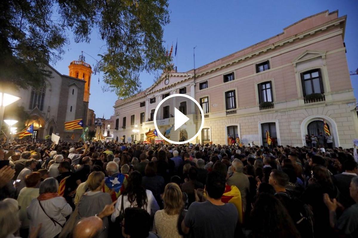 Concentració pel referèndum a Sabadell