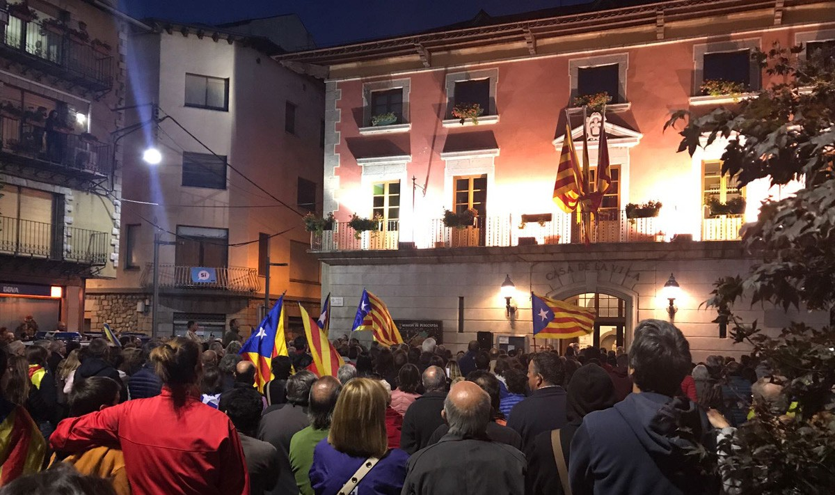 La concentració a Puigcerdà