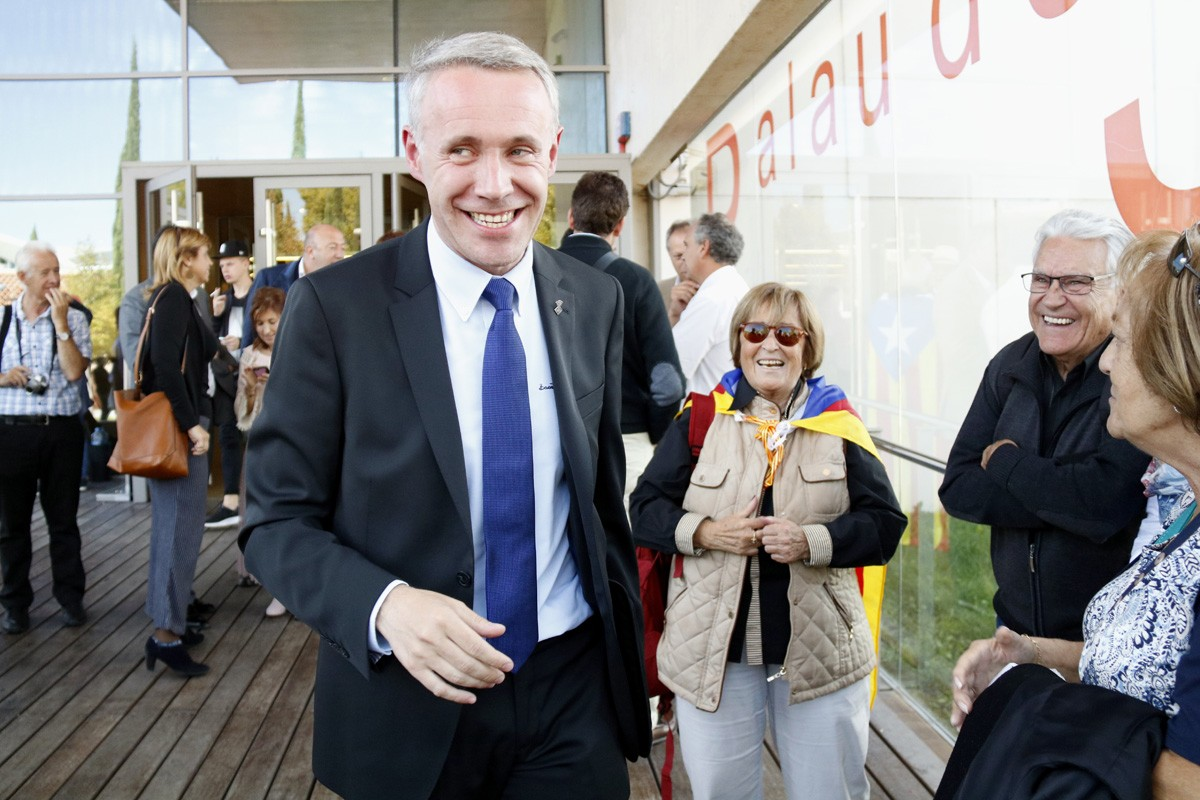 L'alcalde de Puigcerdà, Albert Piñeira, a la sortida de les seva compareixença davant la Fiscalia
