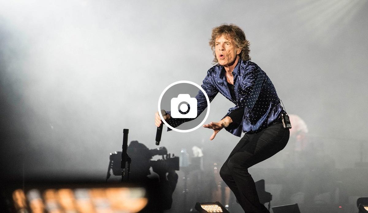 Mick Jagger en acció aquest dimecres a Barcelona