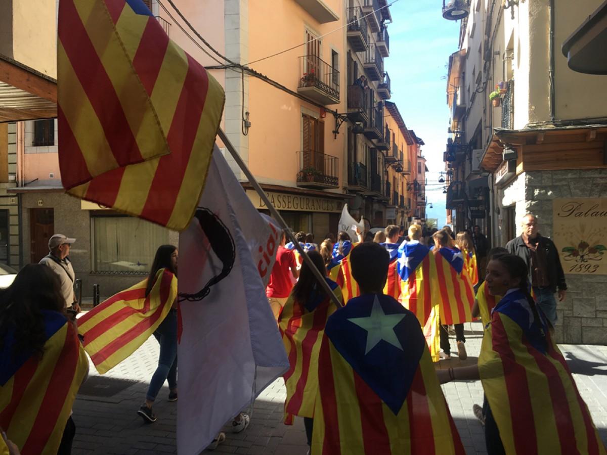 Manifestació d'estudiants a Puigcerdà