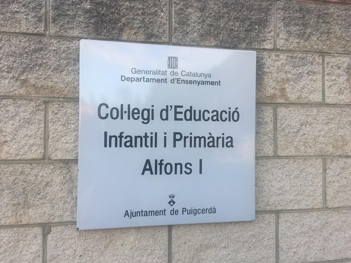 Mobilització a l'Escola Alfons I de Puigcerdà per garantir l'1-O