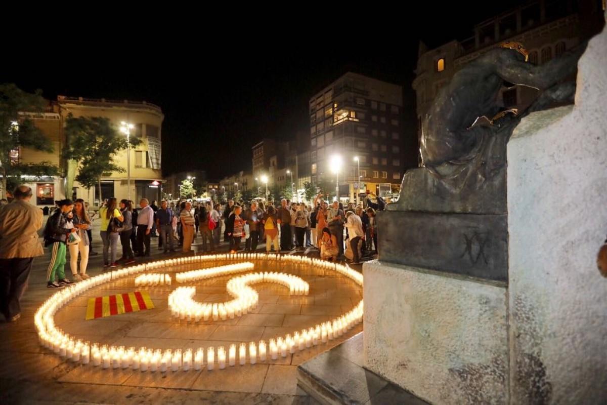 L'acte de l'Anji a la plaça Doctor Robert, a Sabadell