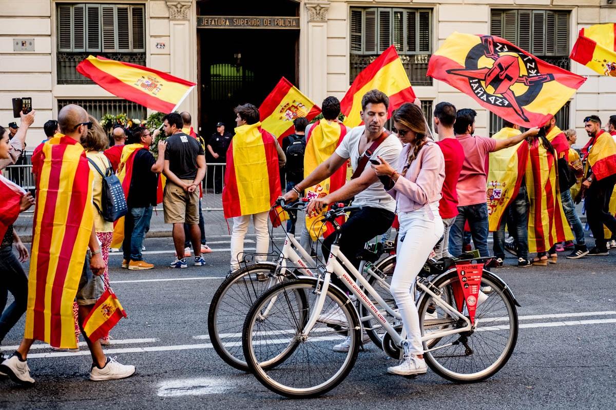 La comissaria de policia de la Via Laietana, punt de trobada dels manifestants