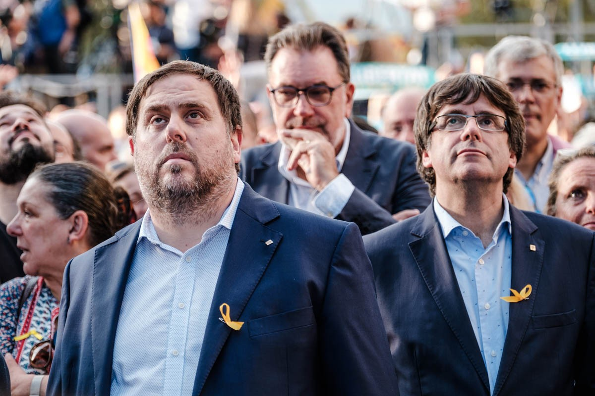 Oriol Junqueras i Carles Puigdemont, la tardor del 2017.