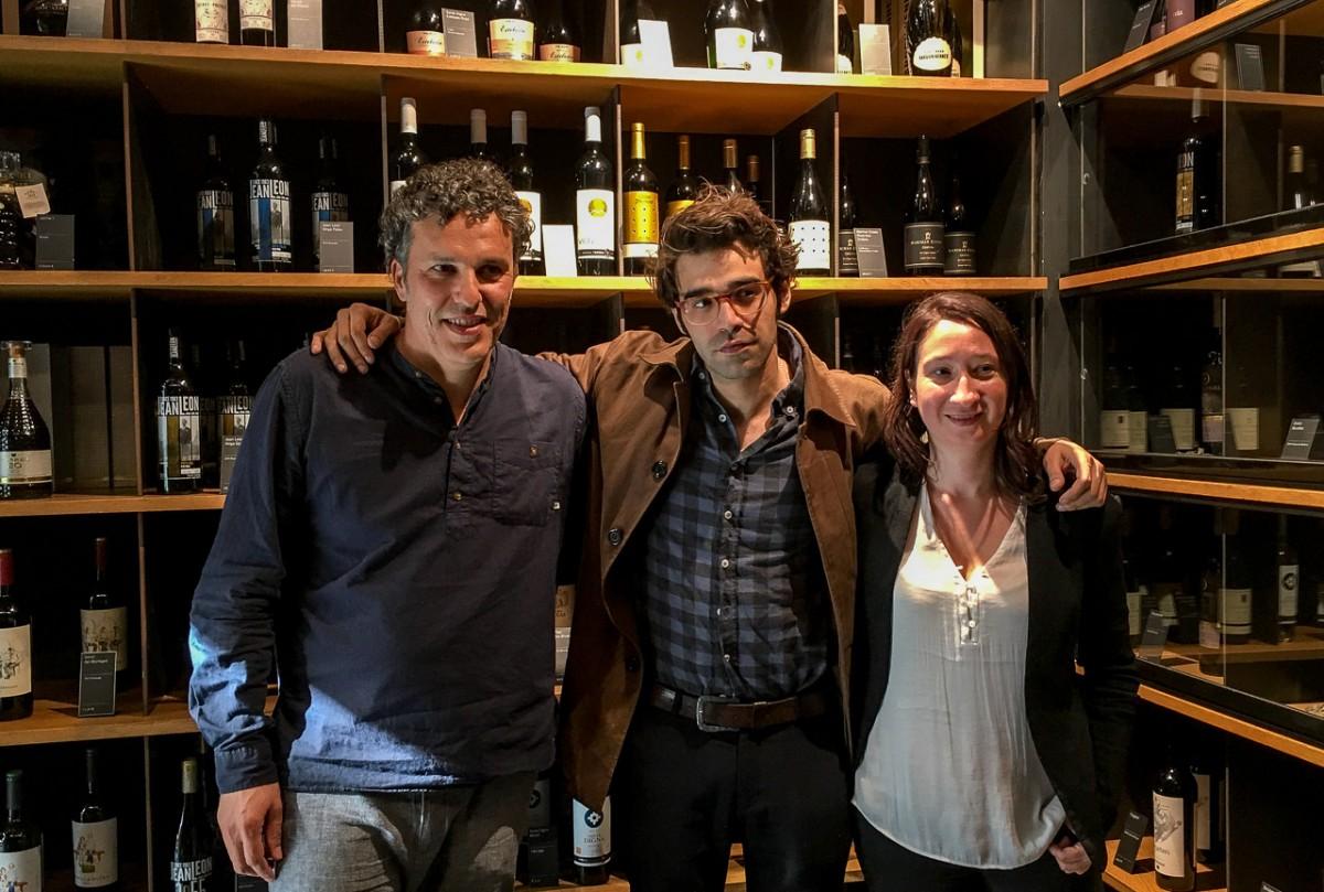 David Verdaguer, un dels protagonistes del Most 2017, amb el director i la programadora de l'esdeveniment