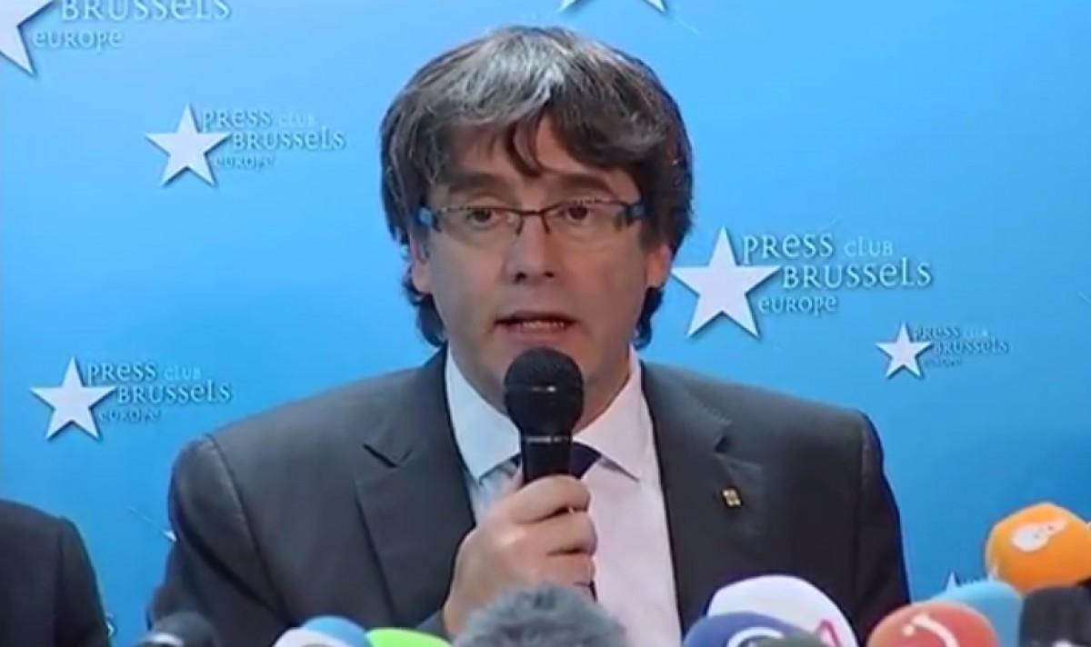 Carles Puigdemont, des de Brussel·les
