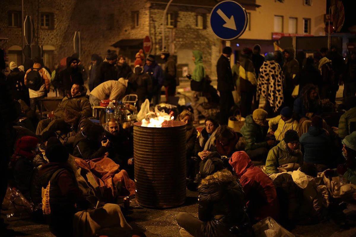Els concentrats, aquest matí a Puigcerdà