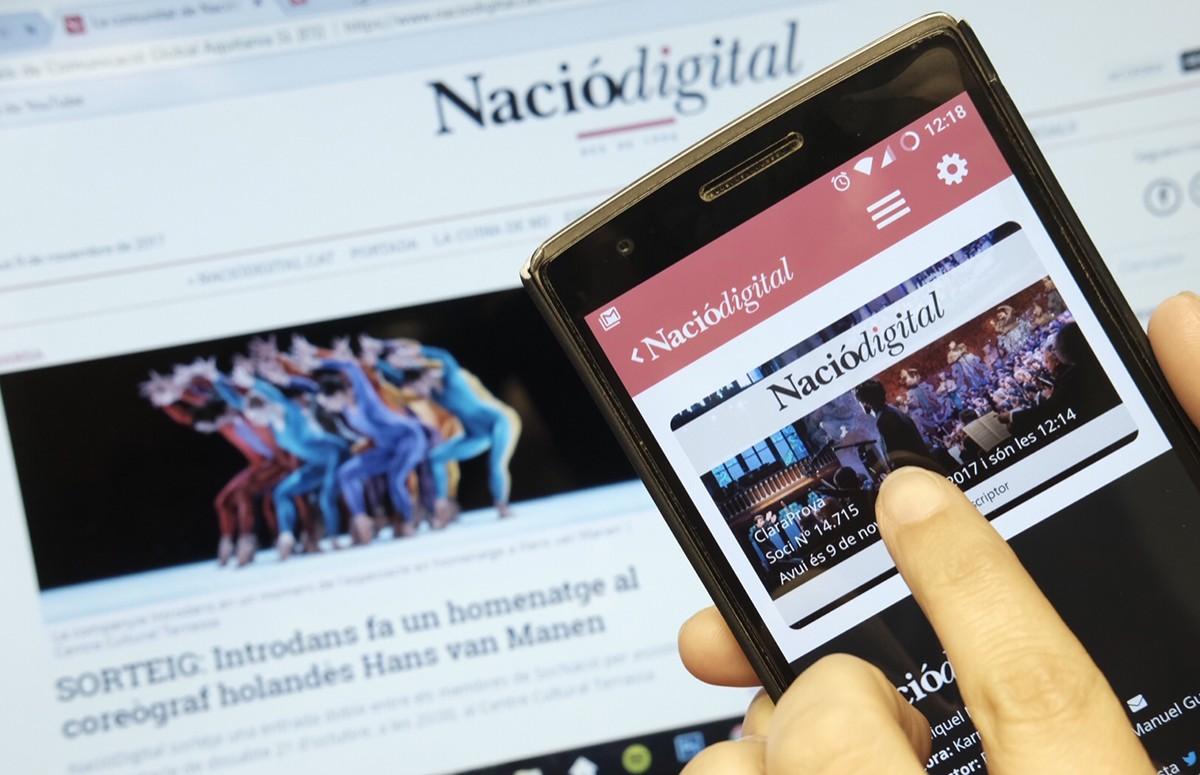 La targeta de subscriptor de NacióDigital al teu mòbil