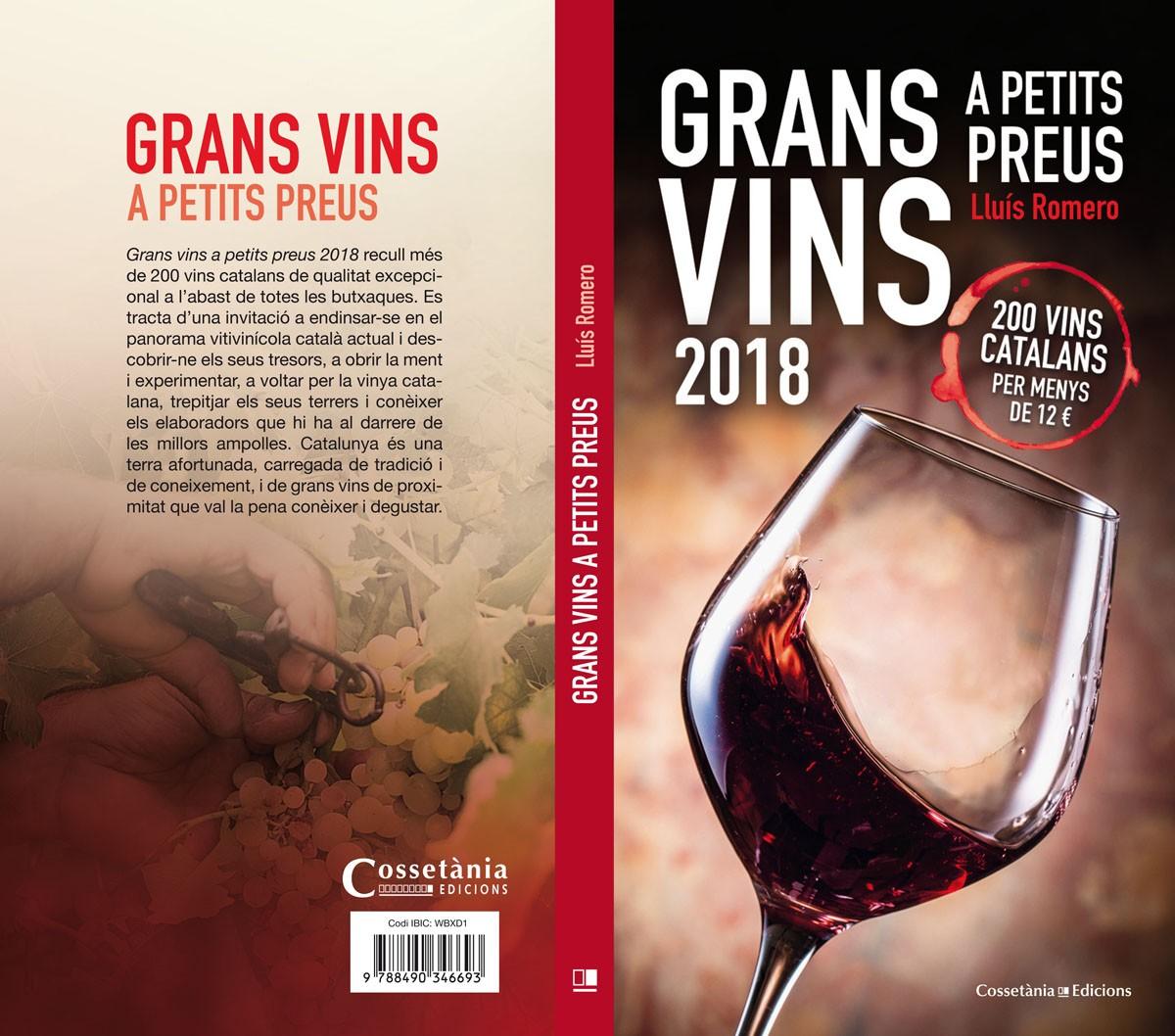 Coberta llibre grans vins catalans 2018 a preus assequibles.
