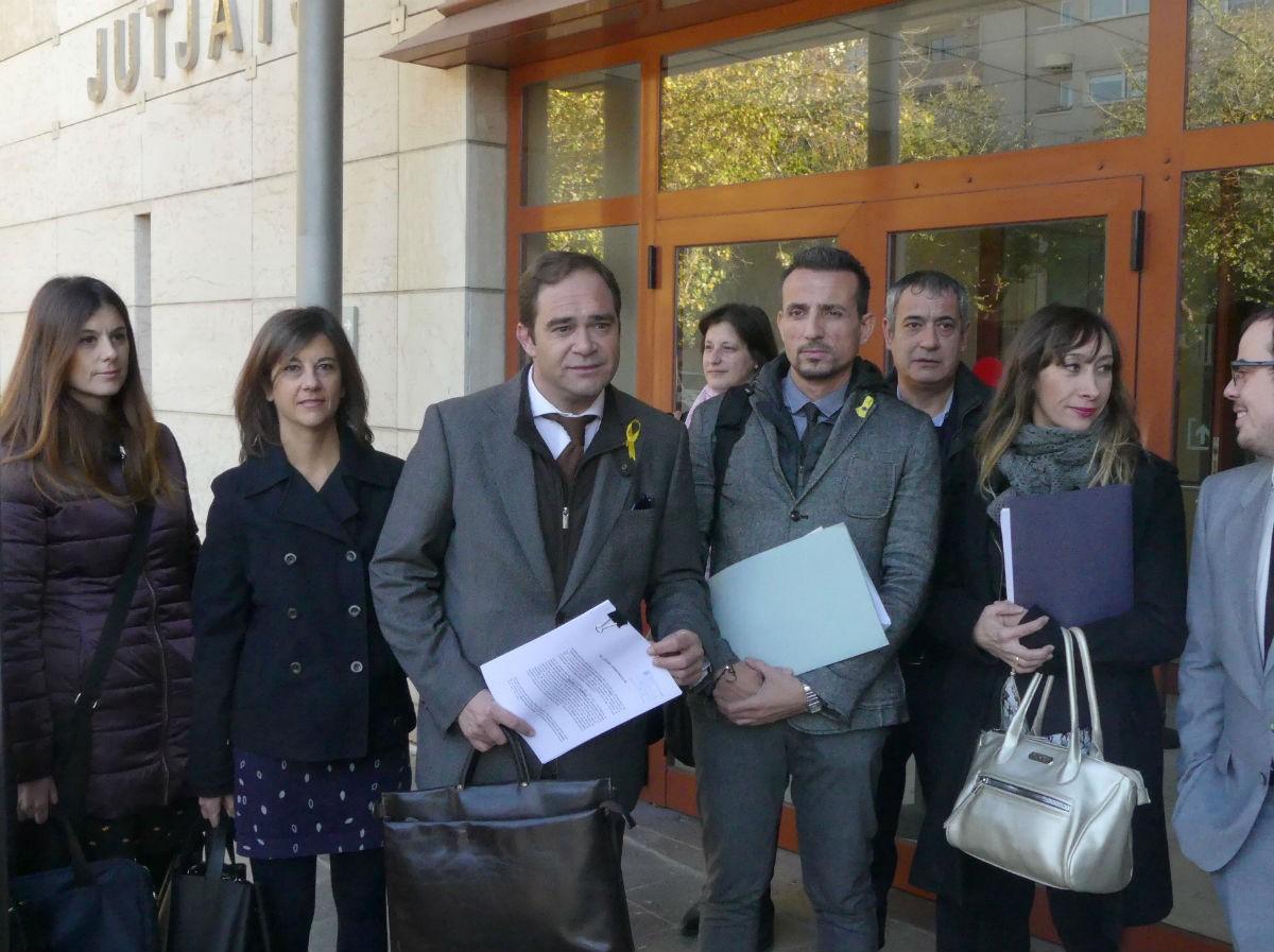 Membres de l'Associació Advocats Voluntaris 1 d'Octubre, en una foto d'arxiu