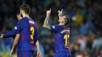 El Barça doblega el Sevilla amb un doblet de Paco Alcácer (2-1)