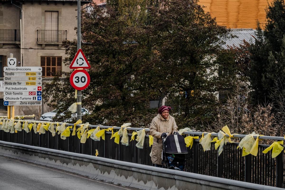 El color groc, símbol del sobiranisme.