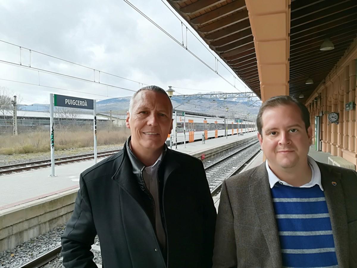 El candidat de Cs per Girona, Jean Castel, ha visitat avui la Cerdanya