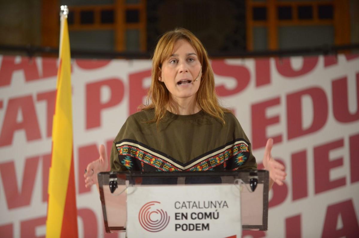 Jéssica Albiach, en un acte amb la marca de Catalunya en Comú