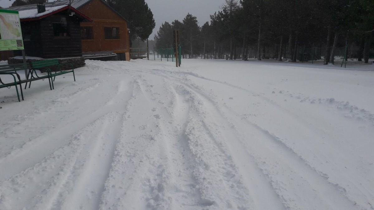 Diversos vehicles 4x4 destrossen els itineraris d'esquí nòrdic de Guils-Fontanera