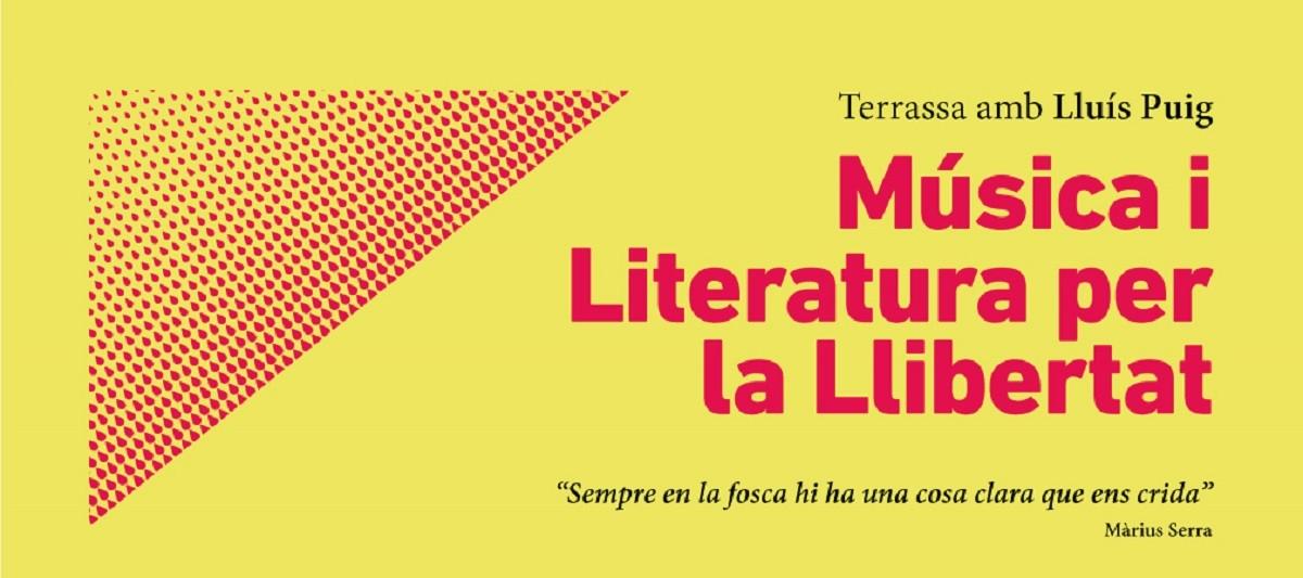 Cartell de l'acte en suport a Lluís Puig