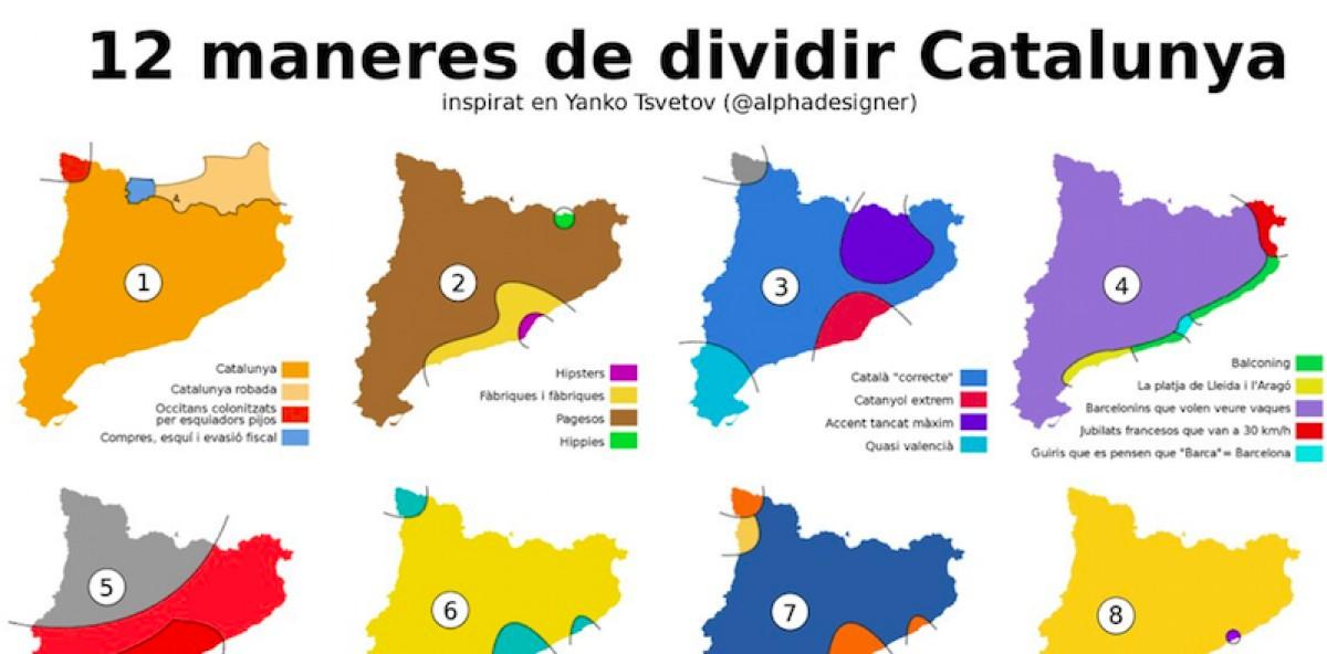 12 maneres de dividir Catalunya