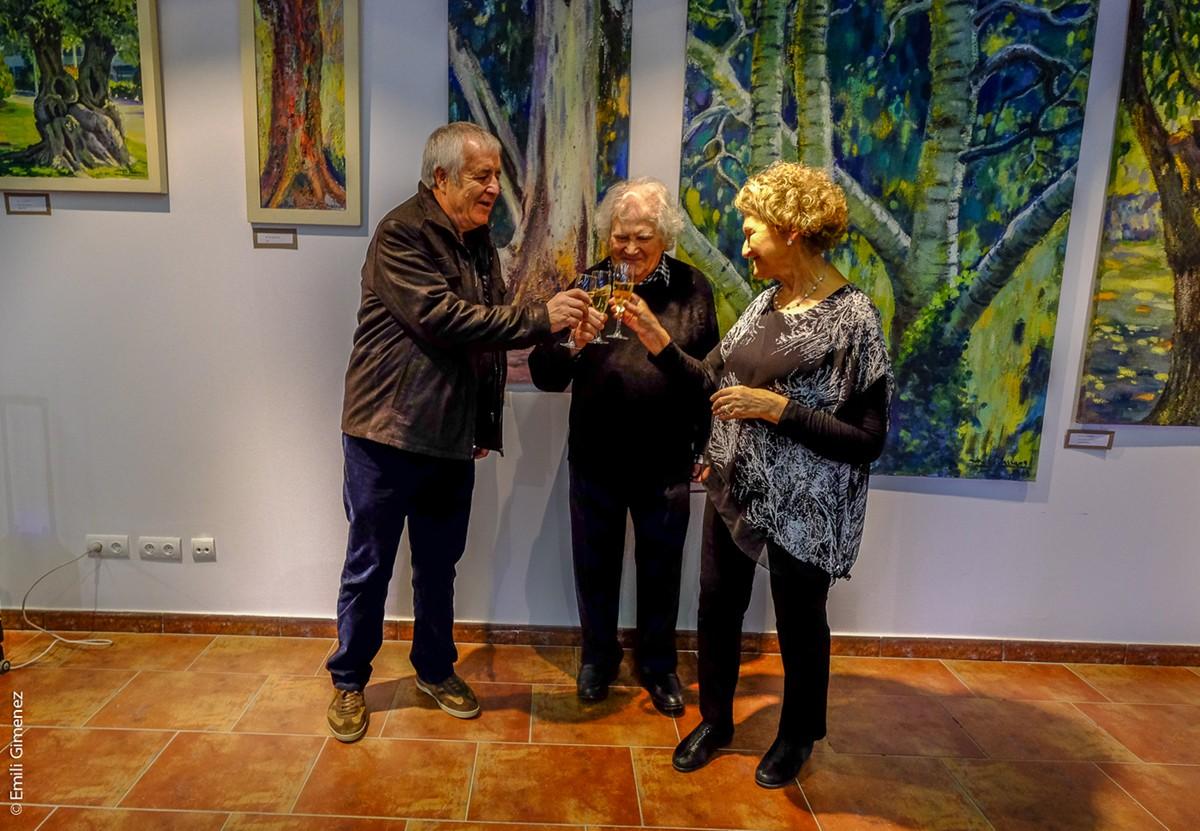 """Inauguració de l'exposició """"50 anys de Pintura"""" de Miquel Jassans, a l'Espai Ceretània de Bolvir"""