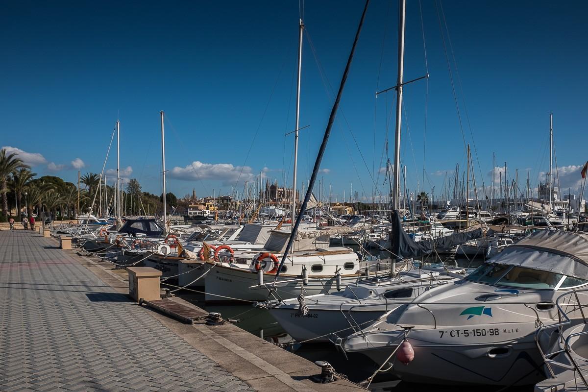 Port de Palma amb vaixells esportius.