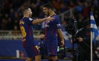 Remuntada de campió i cop de puny sobre la taula del Barça a Anoeta (2-4)