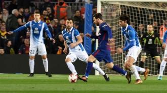 El Barça remunta contra l'Espanyol i passa a semifinals de Copa (2-0)