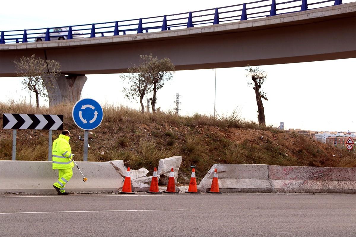 Punt de l'accident mortal de Tarragona