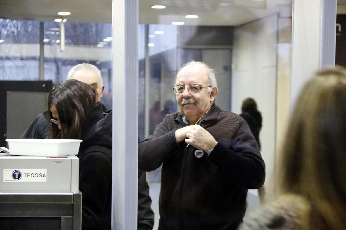 Joan Badia, en els jutjats quan va declarar per l'1-O