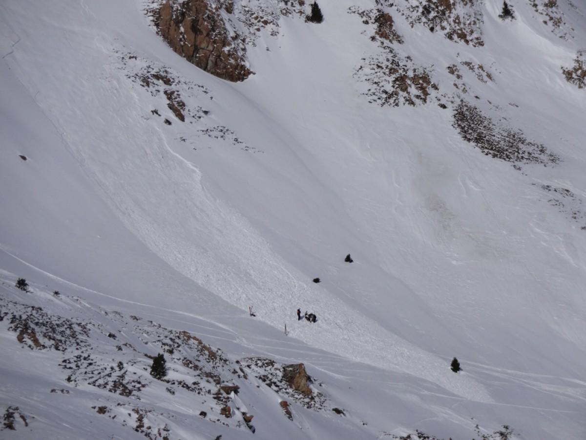 Allau a prop d'una estació d'esquí