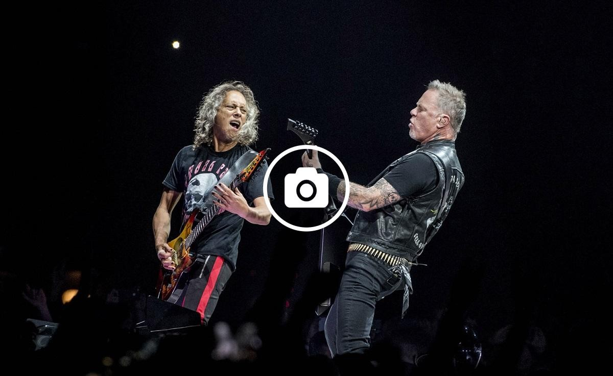 Kirk Hammett i James Hetfield de Metallica