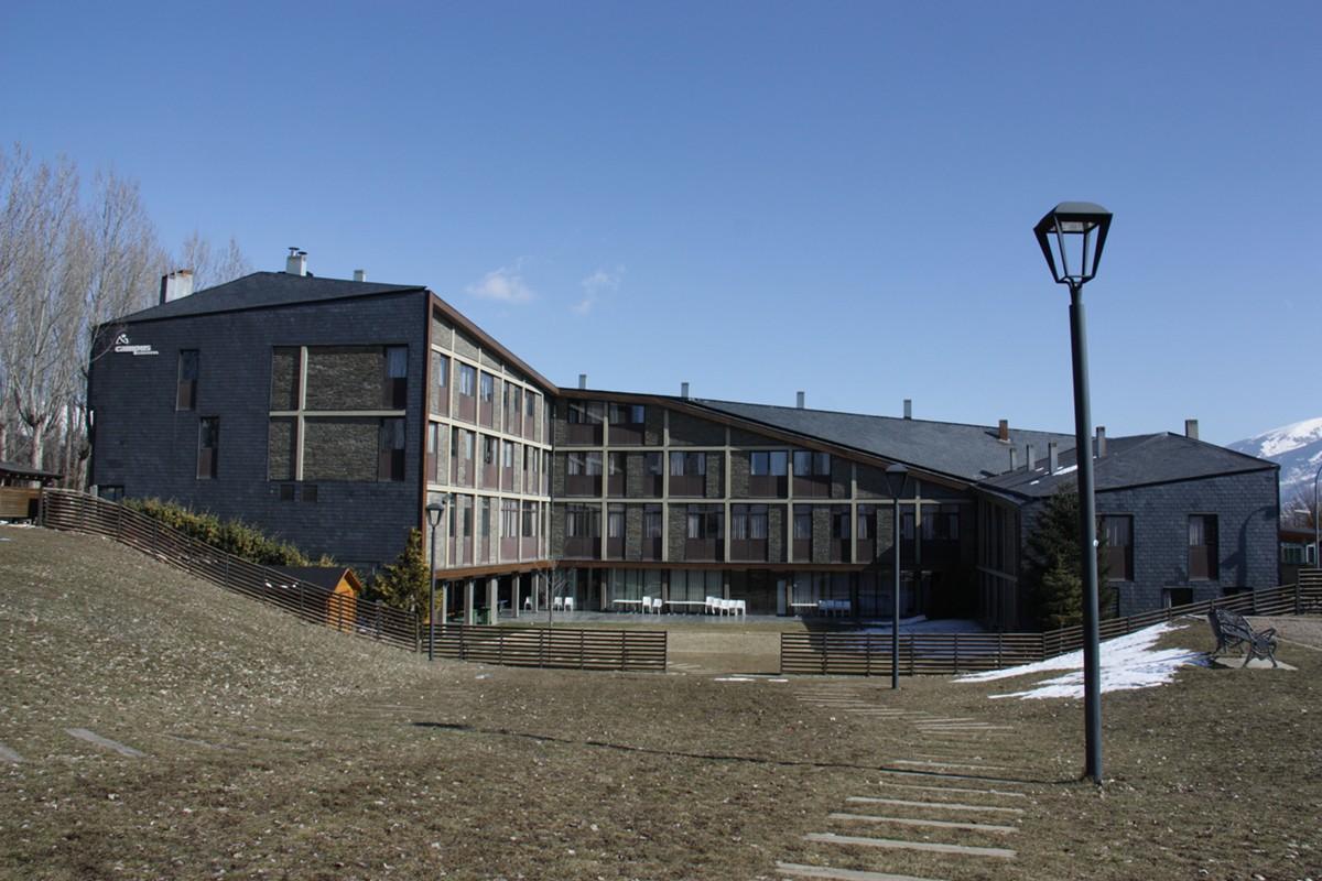Instal·lacions del Campus Cerdanya de Puigcerdà, on hi ha allotjats alguns dels afectats pel brot de gastroenteritis aguda