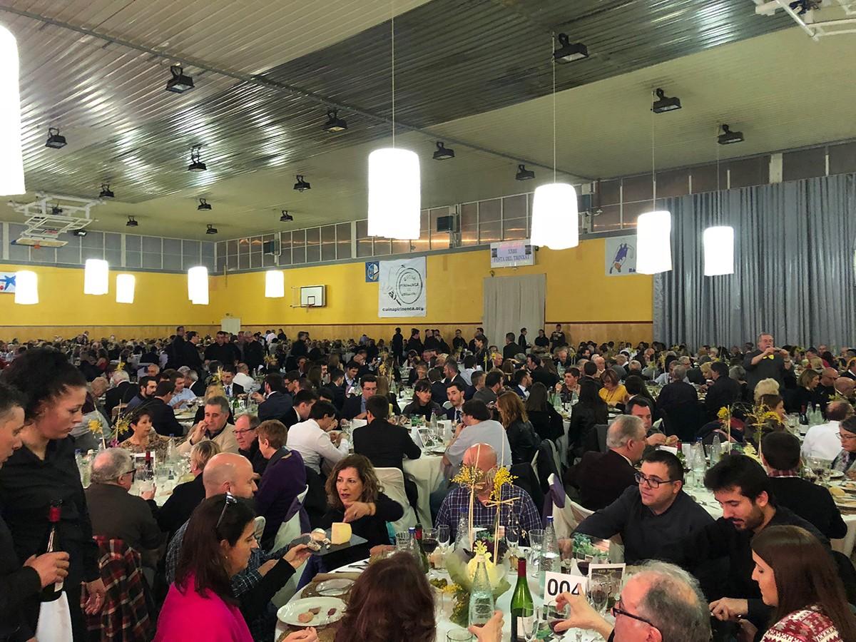 Imatge d'ahir de la Festa del Trinxat de Puigcerdà, viscuda amb total normalitat